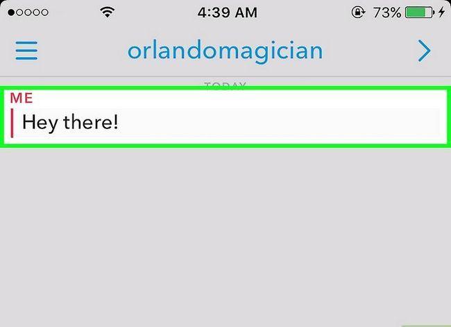Prent getiteld Vertel as iemand jou boodskappe op Snapchat Stap 5 gestoor het