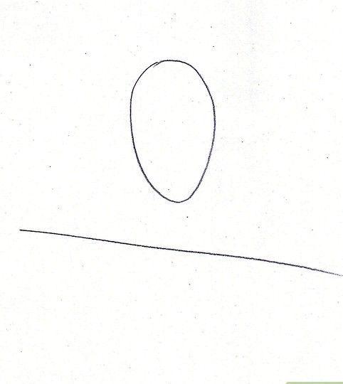 Prent getiteld Teken Benjamin Franklin Stap 1