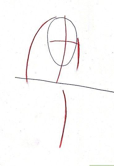 Prent getiteld Teken Benjamin Franklin Stap 2