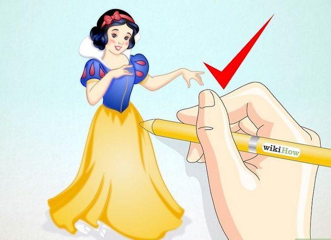 Prent getiteld Teken Snow White Stap 7