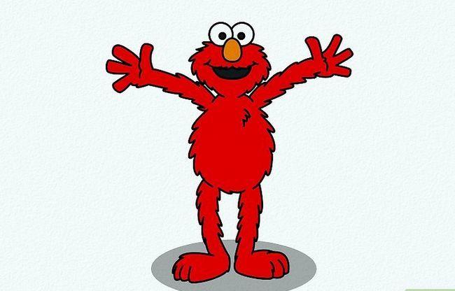 Prent getiteld Teken Elmo Stap 11