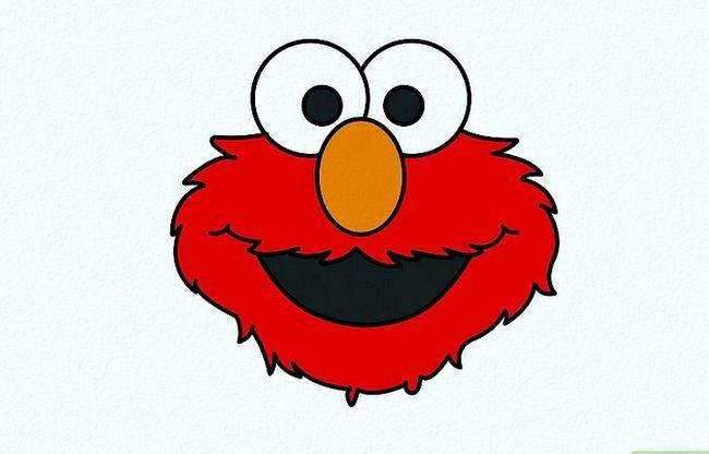 Prent getiteld Teken Elmo Stap 5