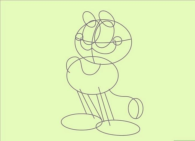 Prent getiteld Teken Garfield Stap 13