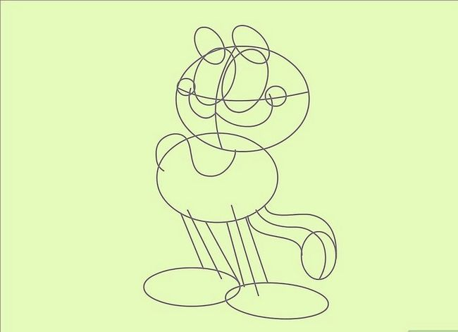 Prent getiteld Teken Garfield Stap 14