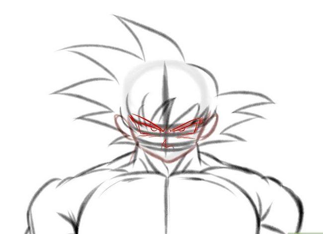 Prent getiteld Teken Goku Stap 11