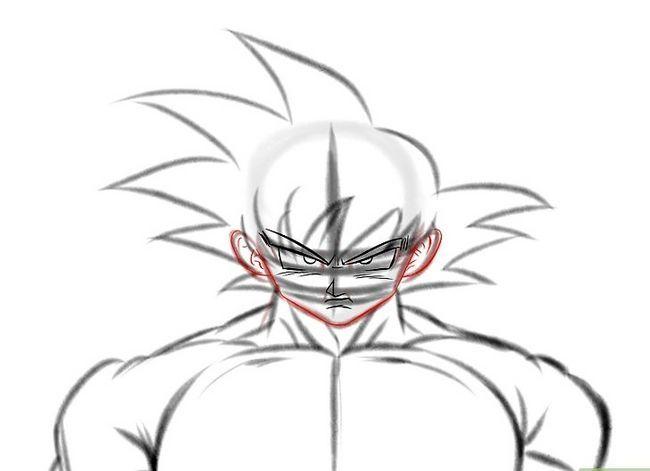 Prent getiteld Teken Goku Stap 13