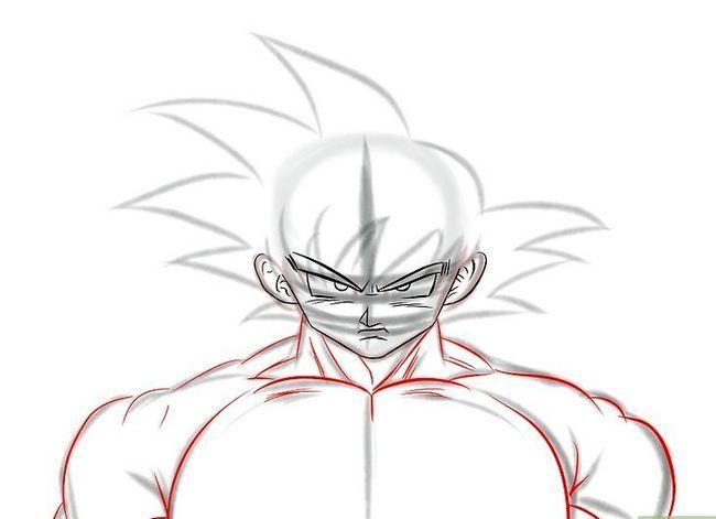 Prent getiteld Teken Goku Stap 14