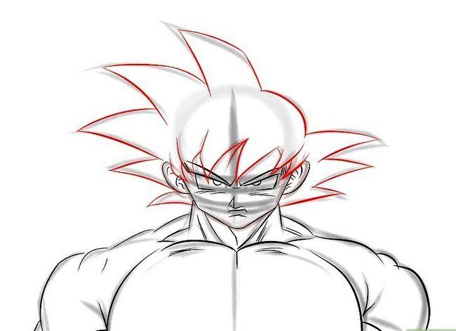 Prent getiteld Teken Goku Stap 15