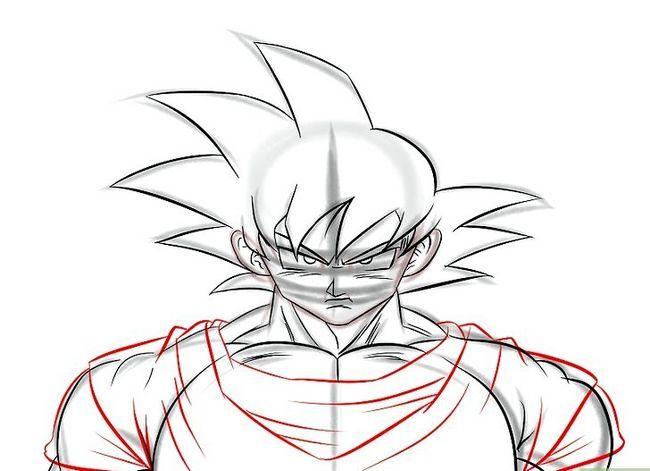 Prent getiteld Teken Goku Stap 16