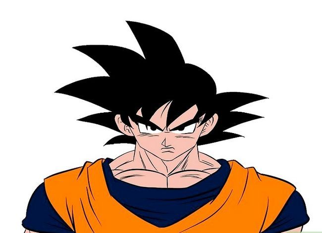 Prent getiteld Teken Goku Stap 17