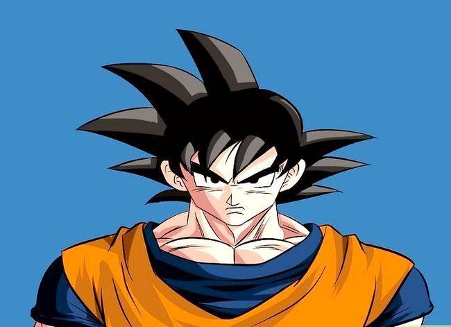 Prent getiteld Teken Goku Stap 20