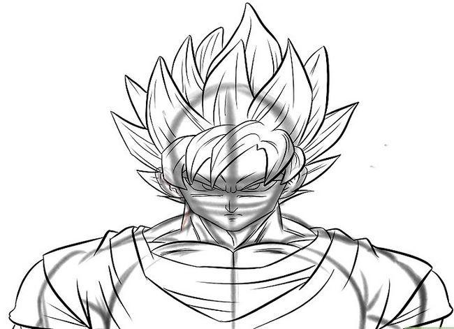 Prent getiteld Teken Goku Stap 29