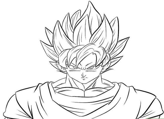 Prent getiteld Teken Goku Stap 30