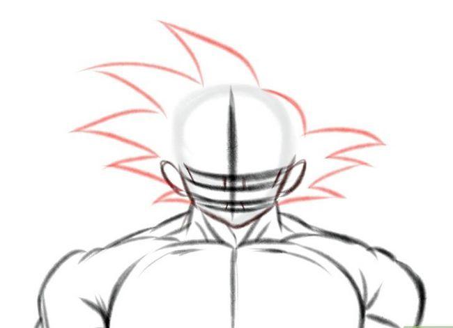 Prent getiteld Teken Goku Stap 7