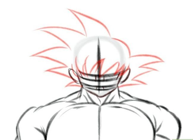 Prent getiteld Teken Goku Stap 8