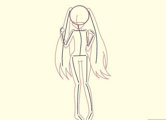 Prent getiteld Teken Hatsune Miku Stap 13