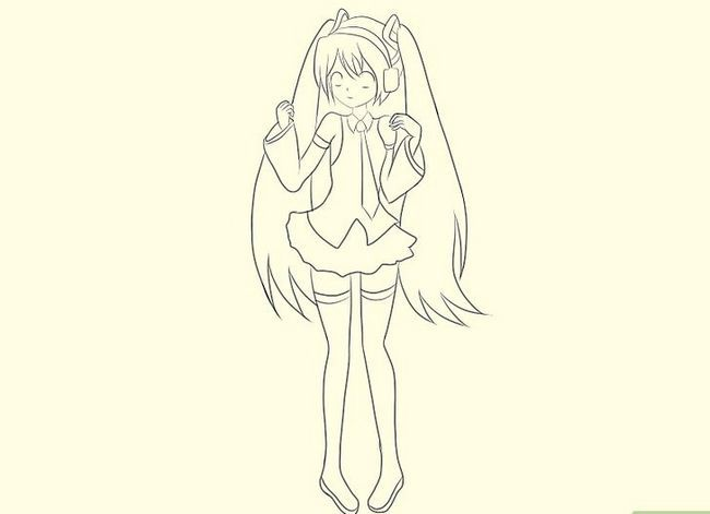 Prent getiteld Teken Hatsune Miku Stap 15