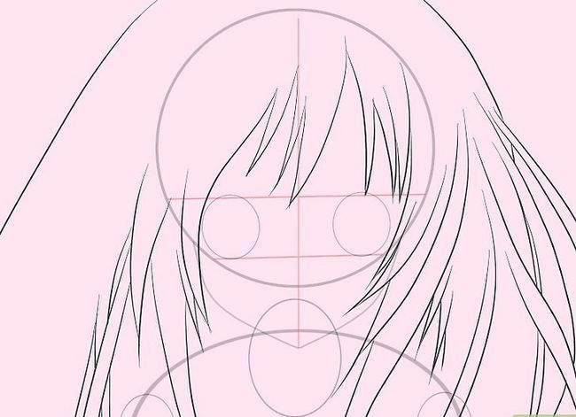Prent getiteld Teken Hatsune Miku Stap 7