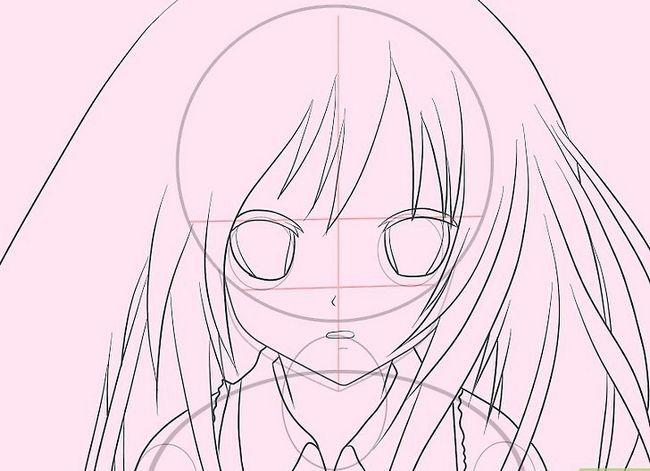 Prent getiteld Teken Hatsune Miku Stap 8