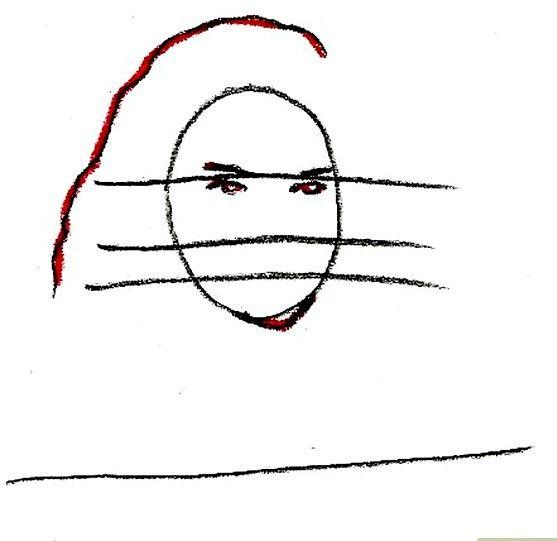 Prent getiteld Teken Hermione Granger Stap 4
