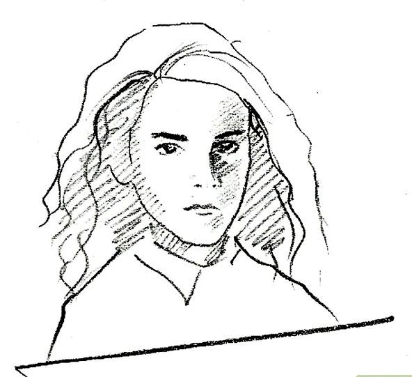 Prent getiteld Teken Hermione Granger Stap 8