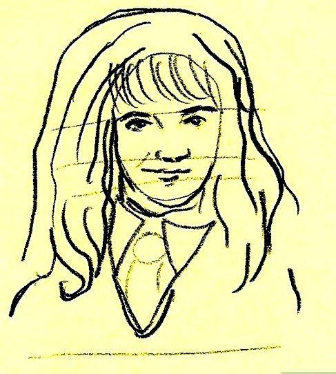 Prent getiteld Teken Hermione Granger Stap 5