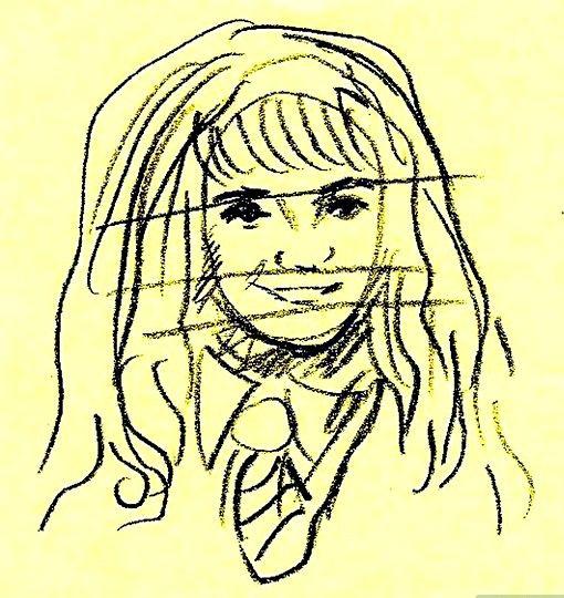 Prent getiteld Teken Hermione Granger Stap 6