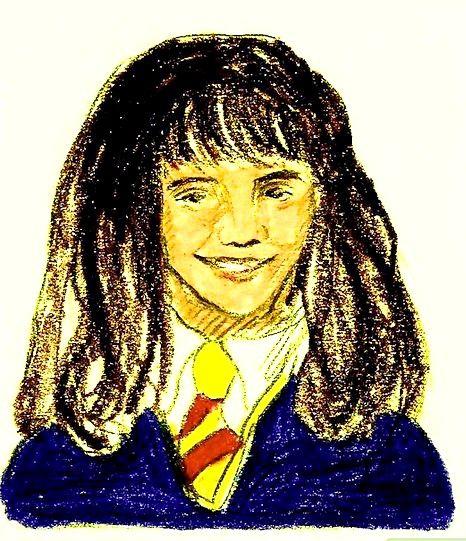 Prent getiteld Teken Hermione Granger Stap 9