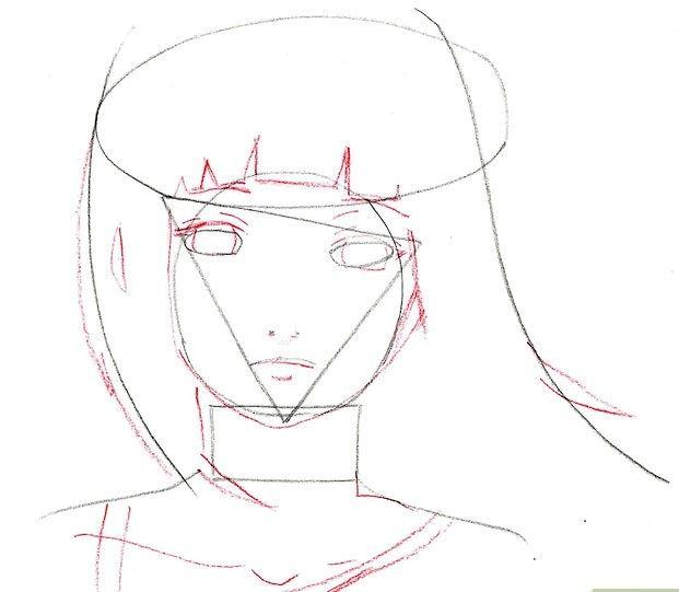 Prent getiteld Teken Hinata Stap 6