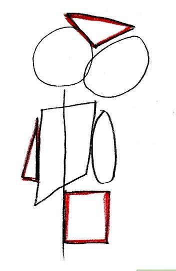 Prent getiteld Teken Jeff De Maori van Bro Town Stap 3
