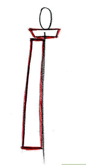 Prent getiteld Teken Kisame Stap 2