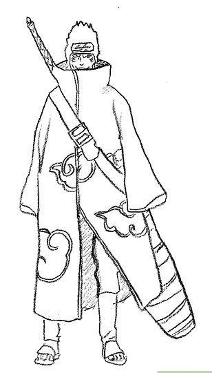 Prent getiteld Teken Kisame Stap 7