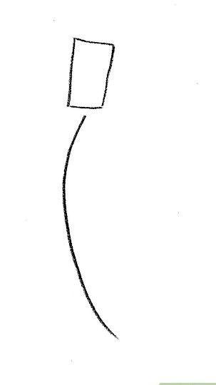 Prent getiteld Teken Lady Tremaine van Cinderella Stap 1