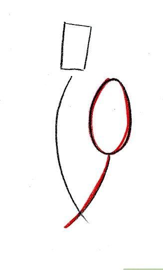 Prent getiteld Teken Lady Tremaine van Cinderella Stap 2