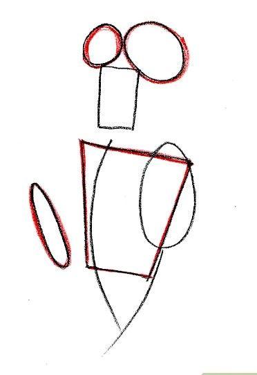 Prent getiteld Teken Lady Tremaine van Cinderella Stap 3