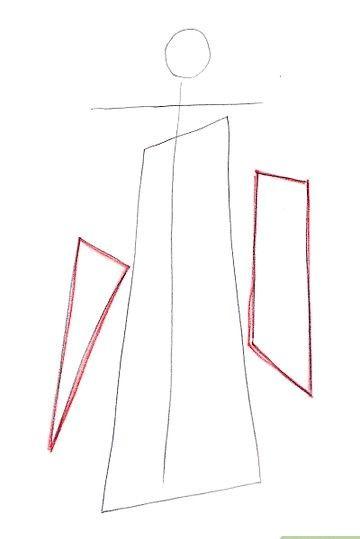 Prent getiteld Teken Miroku Stap 3