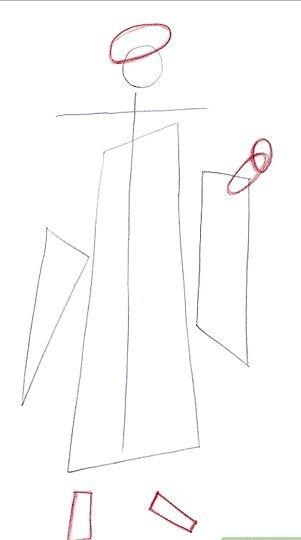 Prent getiteld Teken Miroku Stap 4