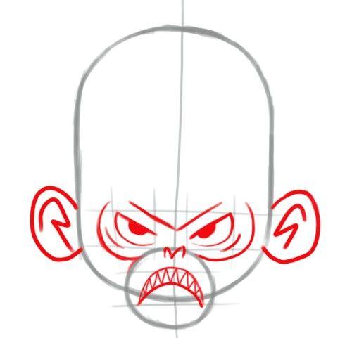 Prent getiteld Face Step 2 10