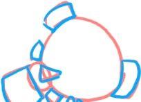 Prent getiteld Teken Nemo Vinne Stap 2