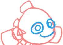 Prent getiteld Teken Nemo Face Step 3