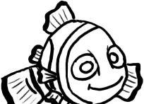 Prent getiteld Teken Nemo Outline Stap 5