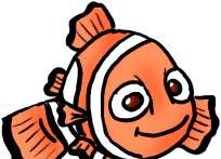 Prent getiteld Teken Nemo Kleur Stap 6