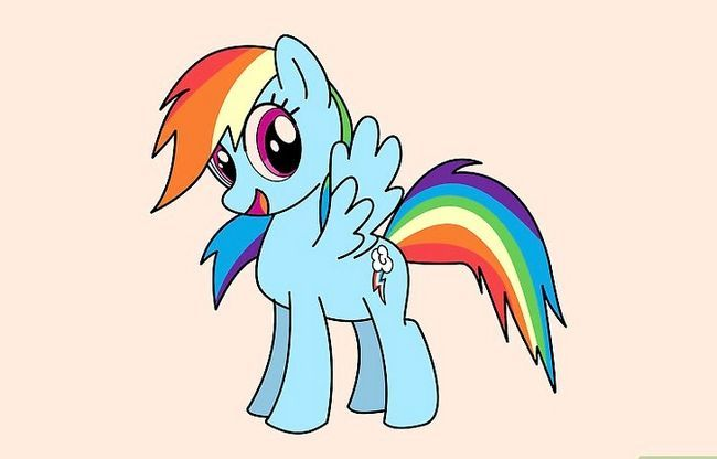 Prent getiteld Teken Rainbow Dash Stap 20