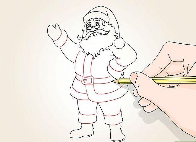 Prent getiteld Teken Santa Claus Stap 13