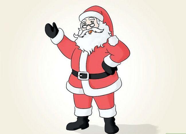 Prent getiteld Teken Santa Claus Stap 14