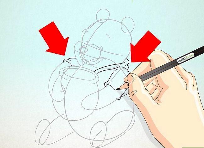 Prent getiteld Teken Winnie the Pooh Stap 13