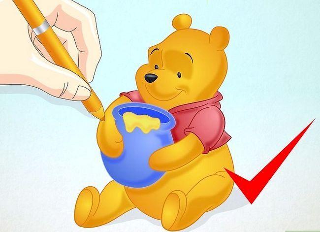 Prent getiteld Teken Winnie the Pooh Stap 15