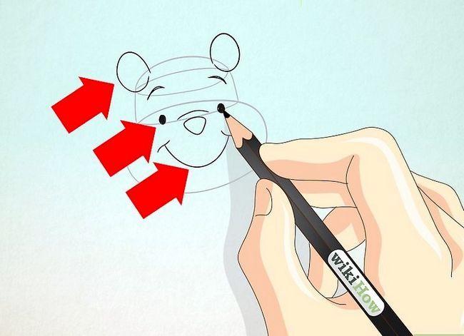 Prent getiteld Teken Winnie the Pooh Stap 2