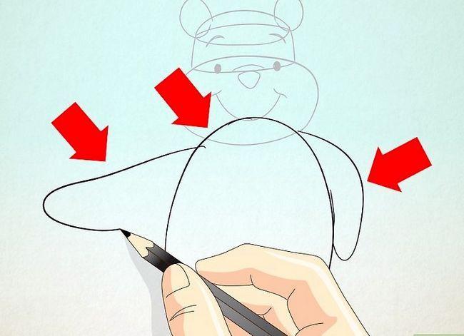 Prent getiteld Teken Winnie the Pooh Stap 3