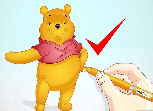 Prent getiteld Teken Winnie the Pooh Stap 6